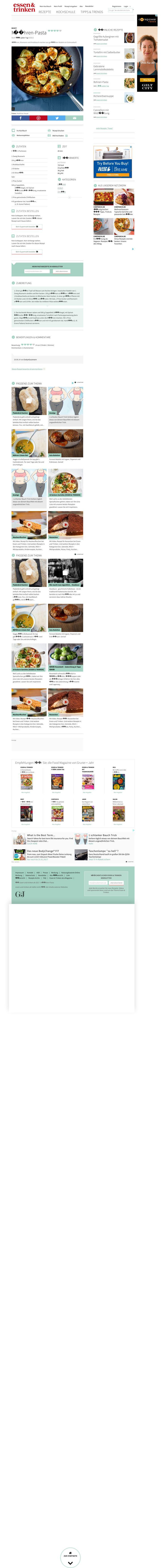 Website'http%3A%2F%2Fwww.essen-und-trinken.de%2Frezept%2F319773%2Fmoehren-pasta.html%23' snapped on Page2images!