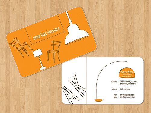 Interior Designer Professional And Sophisticated Business Card Design Cards