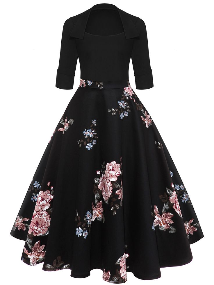 Buy Courtly Floral Printed Midi Skater Dress online with cheap prices and discover fashion Skater Dresses at Fashionmia.com.
