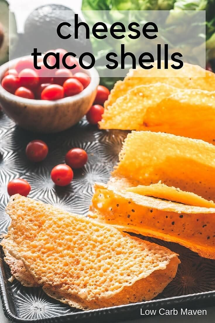 Low carb taco shells made with cheddar cheese #lowcarb #keto #cheeseshells #lowcarbtacoshells #tacoshells #glutenfree