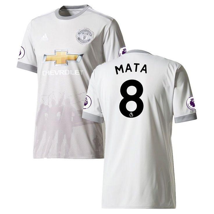 Juan Mata Manchester United adidas Youth 2017/18 Third Replica Jersey - Gray