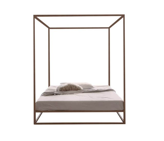 asha wood baldaquin : letto a baldacchino con struttura