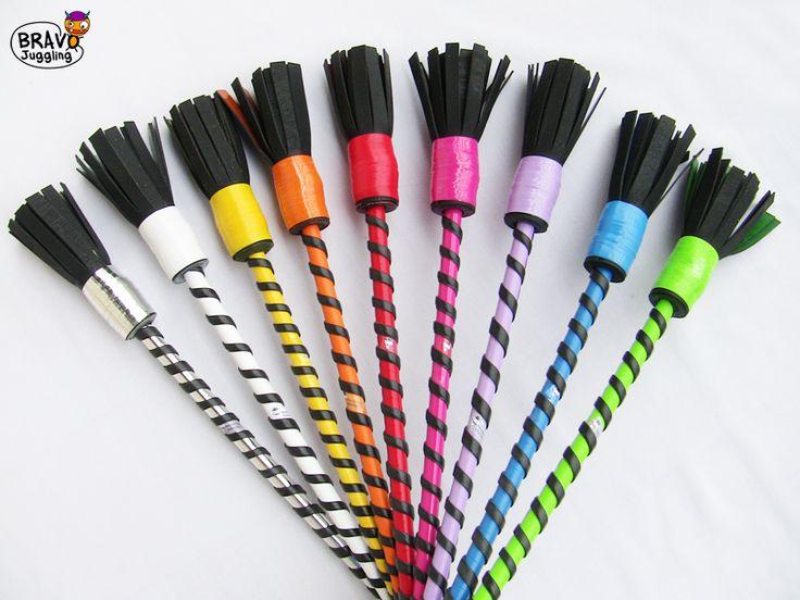BravoStick Basic - wooden-rubber devilstick / flowerstick - from Bravo Juggling order: bravojuggling@gmail.com