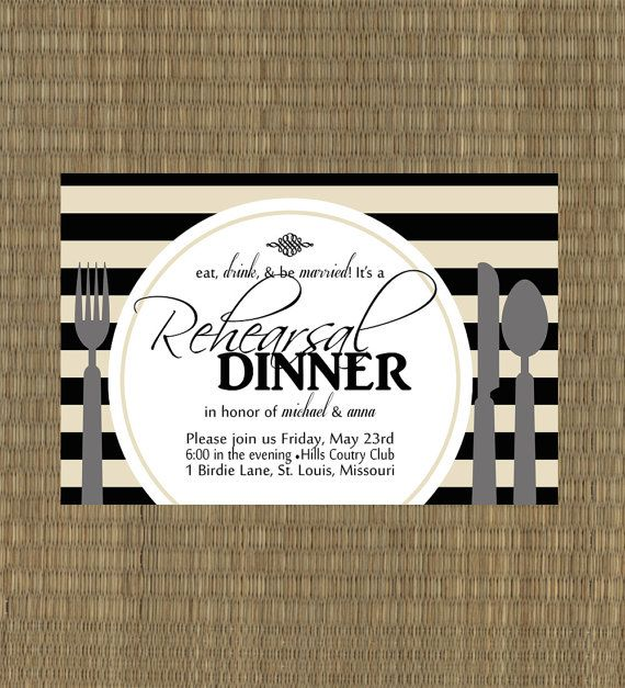 14 best Rehearsal Dinner images on Pinterest Rehearsal dinner - printable dinner invitations