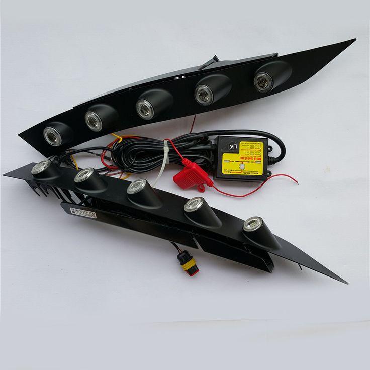 2x CAR-Specific White LED DRL Daytime Running Ligh front fog bumper lamp for nissan juke 2013 2012 2011