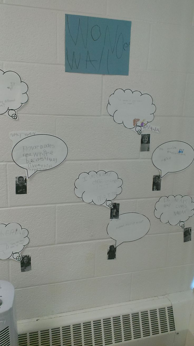 Wonder Wall.  Any questions kids have are put up on this wall with their photo.  Friends can answer each other's questions.