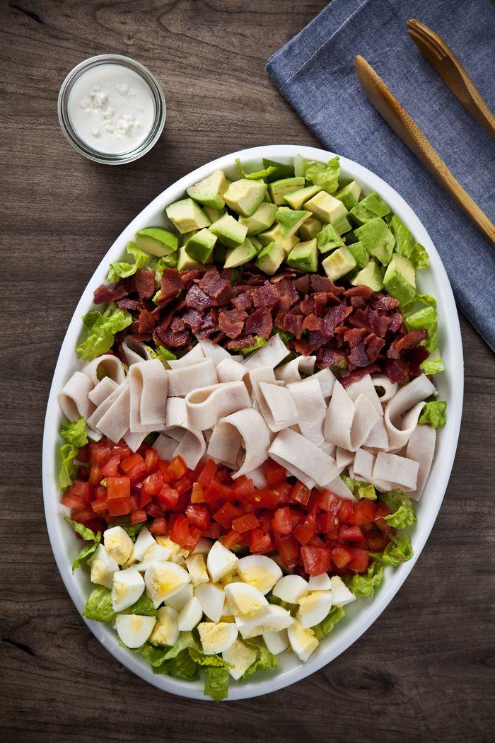Turkey Cobb Salad With Blue Cheese Buttermilk Dressing Recipe Cobb Salad Recipe Cobb Salad Quick Healthy Dinner