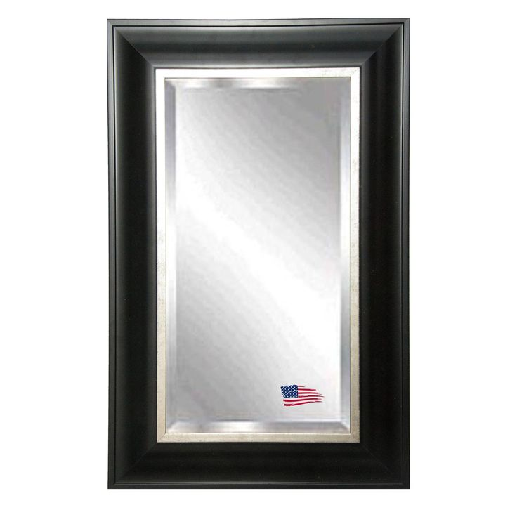 Rectangle Grand Black Wall Mirror