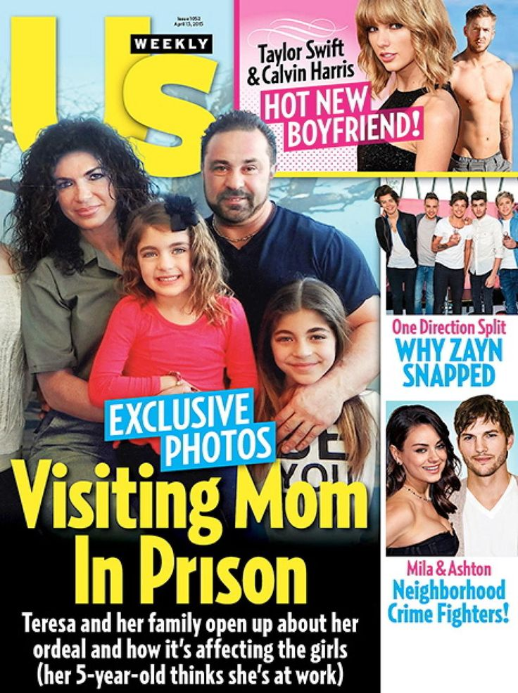 "Green is the new black! Teresa Giudice, who has been in prison since early January in Danbury, Conn., wore minimal makeup and showed off her natural curls in a green prison jumpsuit for a family portrait -- seen on the cover of US Weekly. The ""Real Housewives of New Jersey"" star is serving her 15-month sentence after pleading guilty to fraud charges."