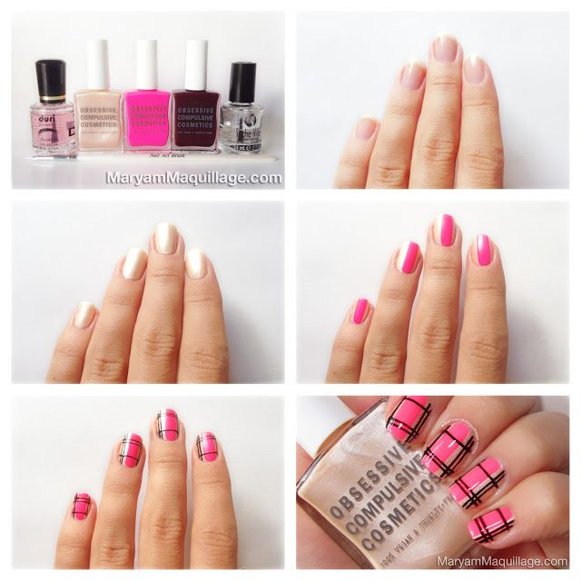 """! Maryam Maquillage !: """"Summer Neon"""" Plaid Nail Art & How-To!"""
