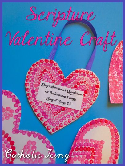 A craft for St. Valentine's day with meaning- include a scripture verse. Also, Q-tip painting is fun for every age from 1-100! :-)