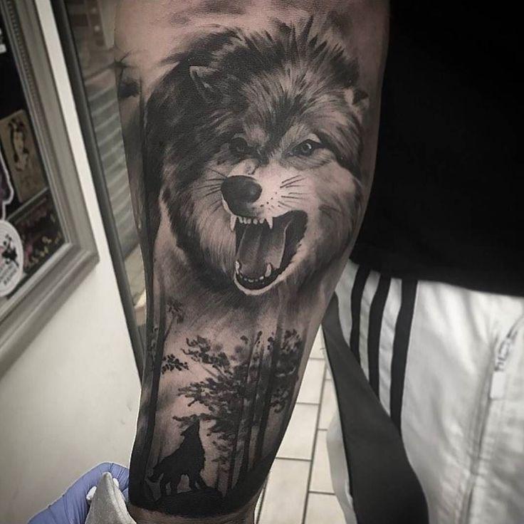 Les 25 meilleures id es de la cat gorie tatouages de loup sur pinterest - Tatouage de loup ...