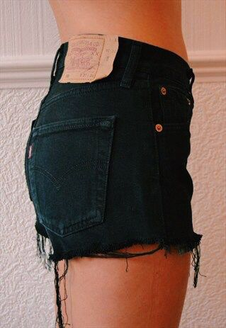 Best 25  Black denim shorts ideas on Pinterest | Black high ...