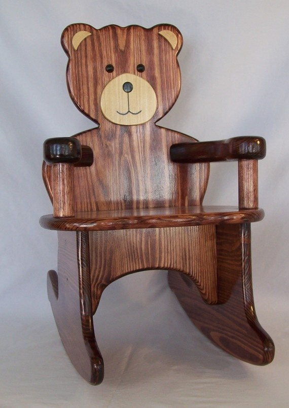 Adorable Handcrafted Teddy Bear Rocking Chair