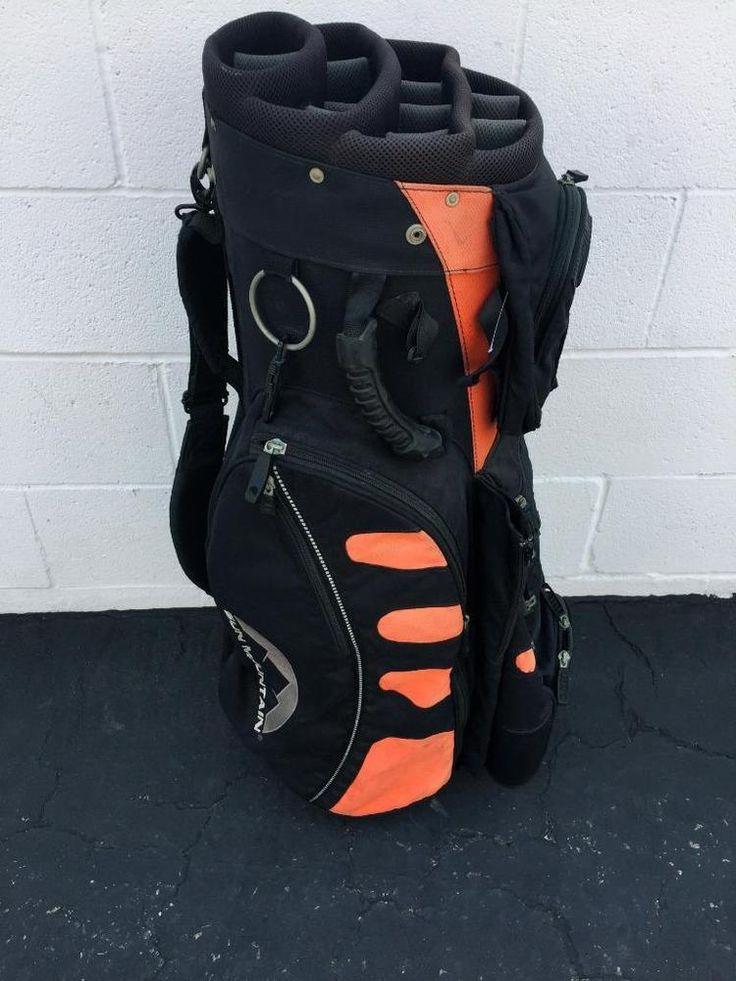 Sun Mountain C 130 Cart Golf Bag Putter Umbrella Holder Black Coral Pga Golf Sunmountain Modern Golf Bags Bags For Sale Online Golf Gear