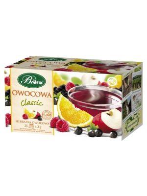 Wieloowocowa Ekspresowa herbata owocowa  • wspomaga odporność organizmu • oczyszcza organizm z toksyn • przyjemny owocowy aromatem • wygodne i praktyczne torebki