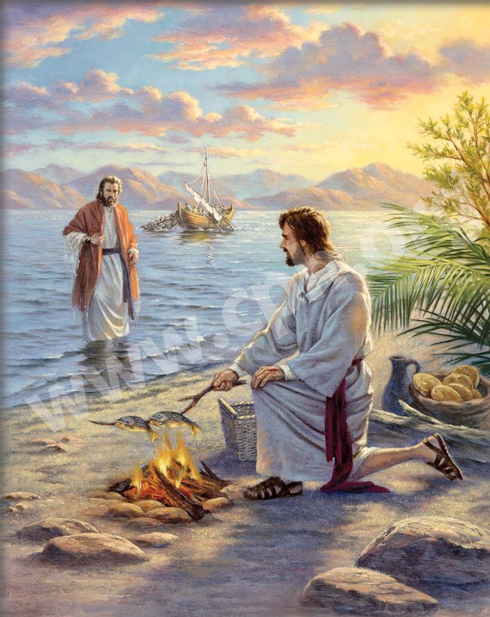 Jesus Cooking Fish for His Disciples Gallery Jesus