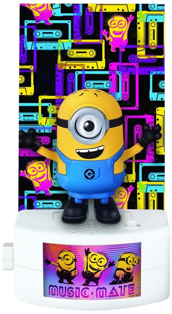 Despicable Me Music-Mate Carl Minion Talks Sings Sound Activated Toys Gift Figur #DespicableMe