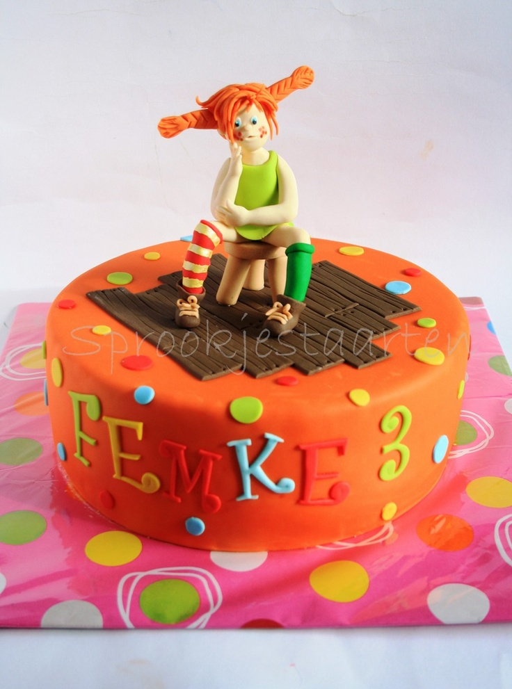 Pippi Longstocking Cake