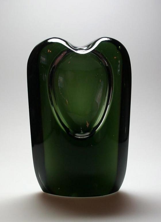 TIMO SARPANEVA - Art glass object (h. 16 cm) for Iittala 1957, Finland.