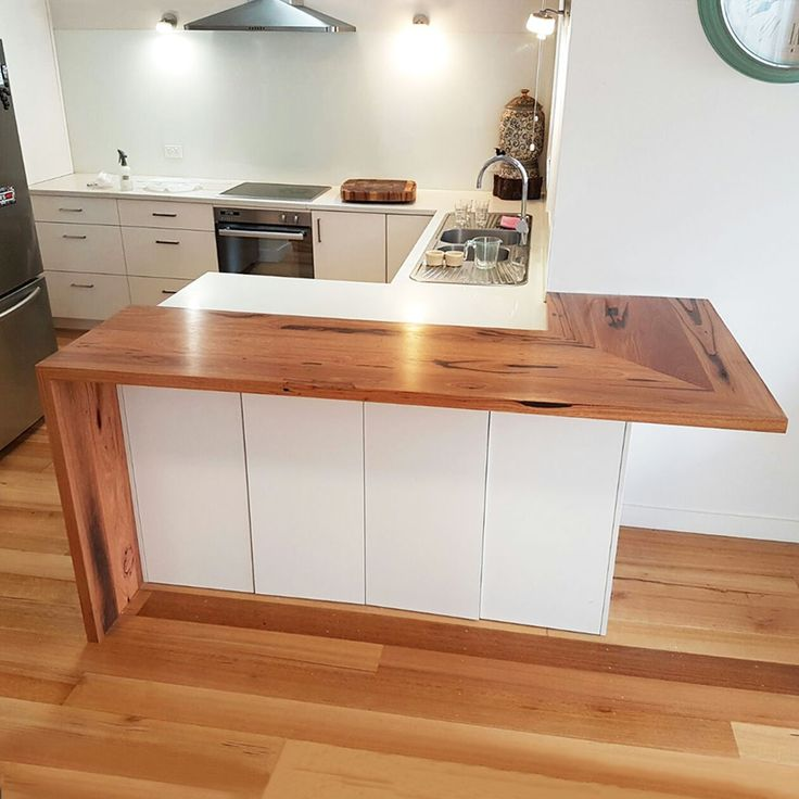 Recycled Messmate waterfall bench top for a client in Williamstown, Victoria. Always love seeing reclaimed local hardwood going back into the community.