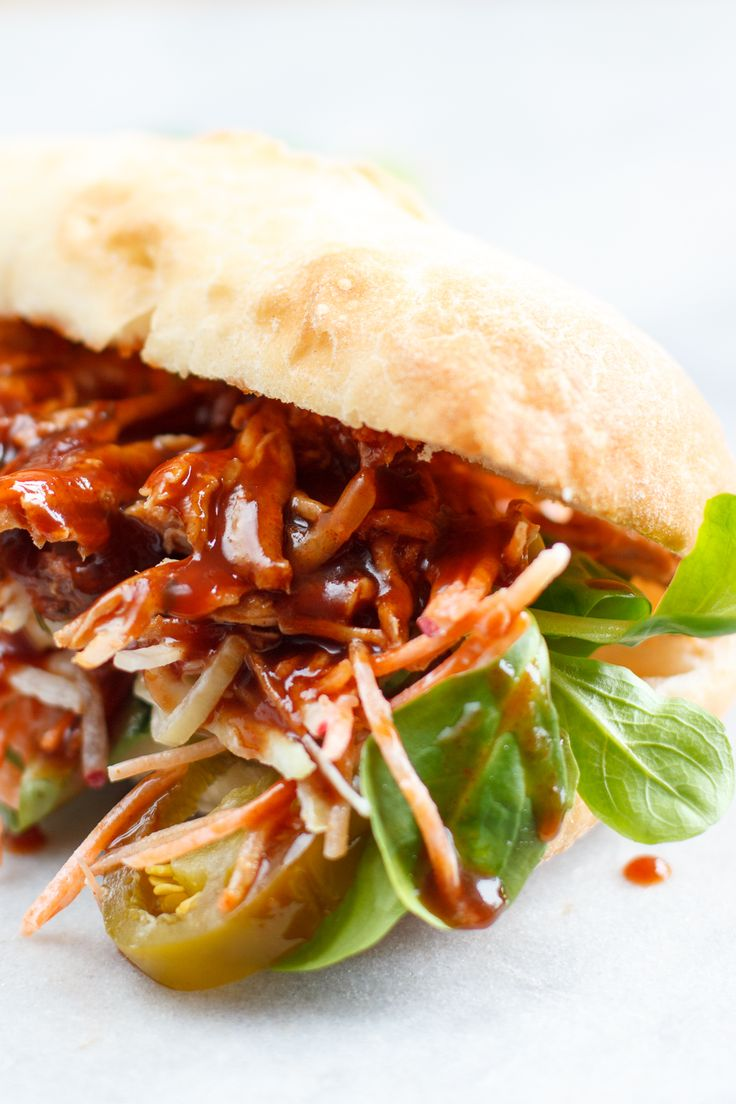 Smokey broodje pulled pork - Zoetrecepten
