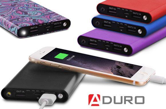 Chargeur portatif de 10 000 mAh avec double port USB