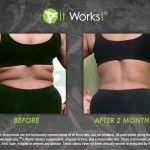 Bye-bye back fat! This happy It Works! Distributor used the It Works! Wrap and Advanced Formula Fat Fighter for 2 months to get these awesome results! www.facebook.com/wrappinmama.ab