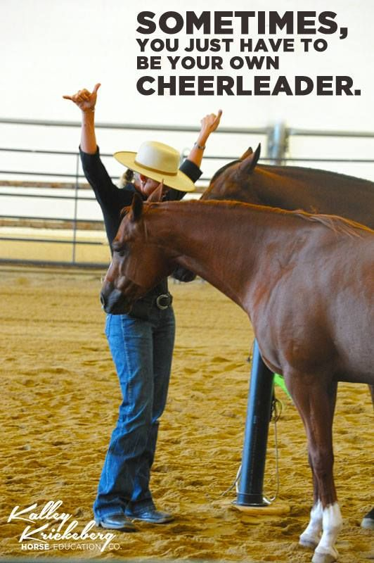 Sometimes, you just have to be your own cheerleader. www.horseeducation.com