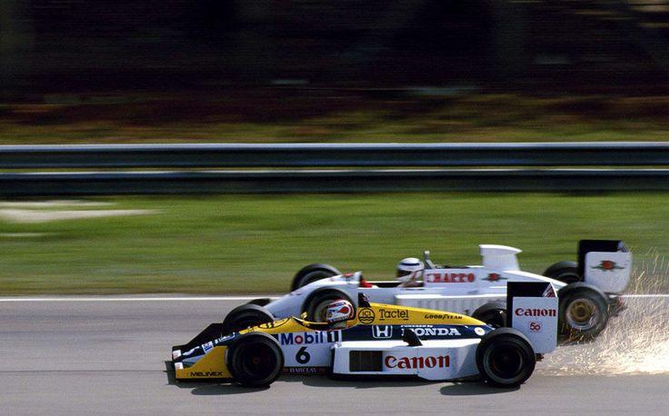 Nelson Piquet, Williams FW11B & Pascal Fabre, AGS JH22, 1987 GP França