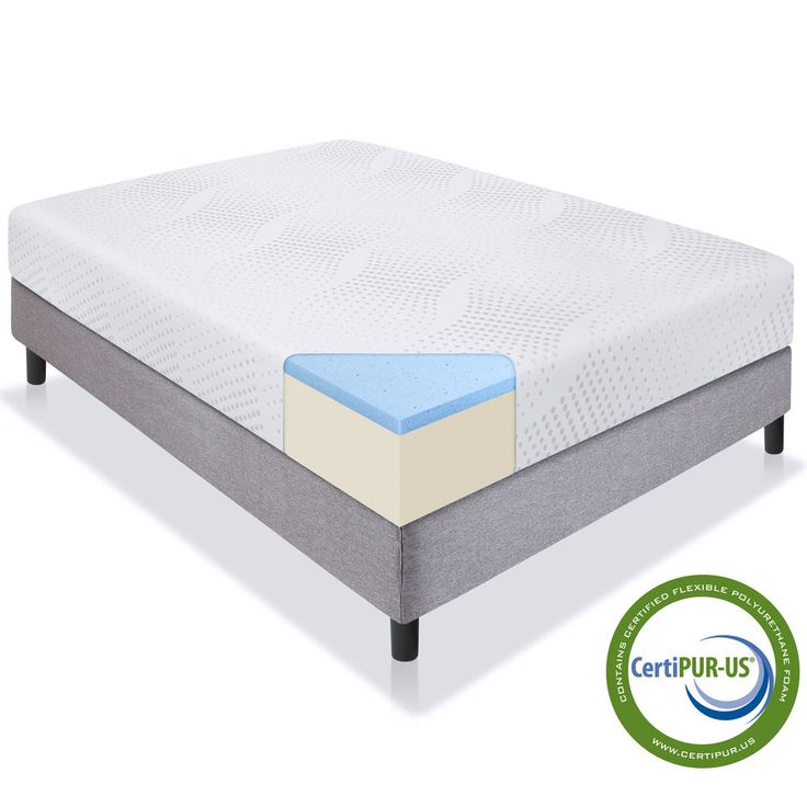 Gel Memory Foam Mattress Full Size Bed Cotton Cover Comfort Home Bedding 10 Inch #MemoryFoamMattress