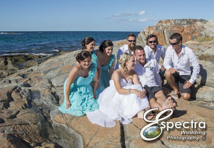 The bridal party. Photos by Jackie & Sarah Cox www.espectra.com.au