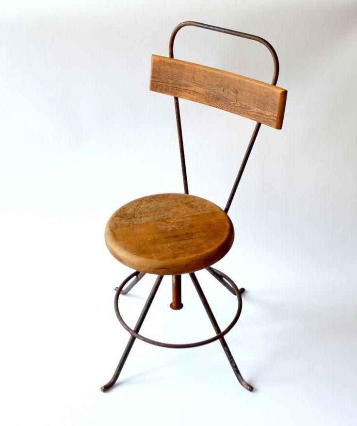 Krzesło obrotowe, lata 50.