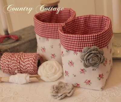 love these little fabric boxes!