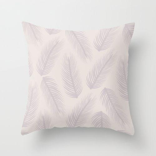 feather throw pillow by georgiana paraschiv
