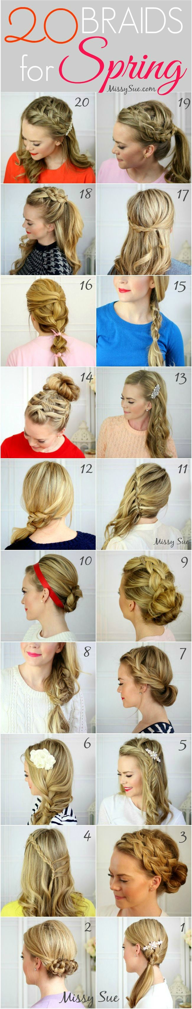 20 Braids for Spring or Summer