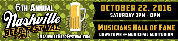 """#NashBeerFest is at the beautiful Hall of Fame at the Municipal Auditorium! New code """"platinum"""" $10 off ticket, ltd supply! Code """"cupid"""" $5 off ticket price! 150+ beers spirits & wines, ALL tastings are included, All Access to the Hall of Fame/Grammy Exhibit ($24 value), fun merchants & booths, games, DJ & Dance Floor, football on big TVs & much more! Hall of Fame is 30K Sq. Feet! It's a music wonderland! FREE parking in state surface lots at 5th & Harrison! FREE on Saturdays!"""