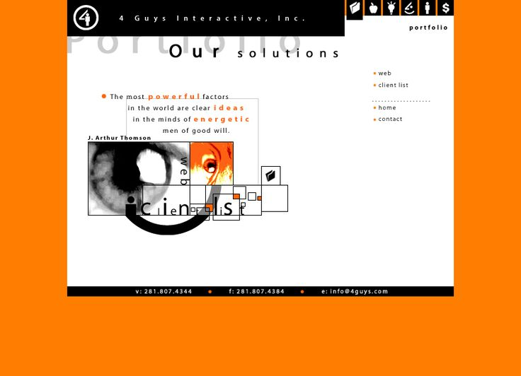 Travel with us through the history of web design and look at how 4 Guys Interactive website looked in 2002.