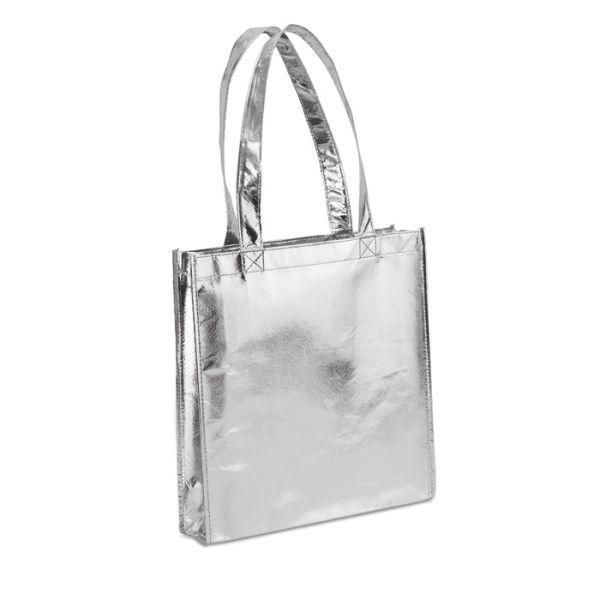 Shopper met gelamineerde metallic buitenzijde. #Shopper #Secretaressedag