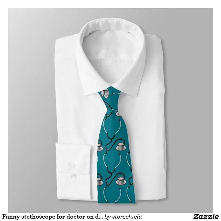 Funny stethoscope for doctor on dark teal green
