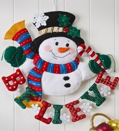 Bucilla ® Seasonal - Felt - Home Decor - Door/Wall Hanging Kits - Snowman…