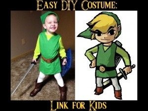 Easy DIY Costume: Link for Kids | Geeks Under Grace | Looking for costume ideas for Halloween? This is a simple tutorial to make Toon Link from The Legend of Zelda: Wind Waker. Click the picture to read the article.