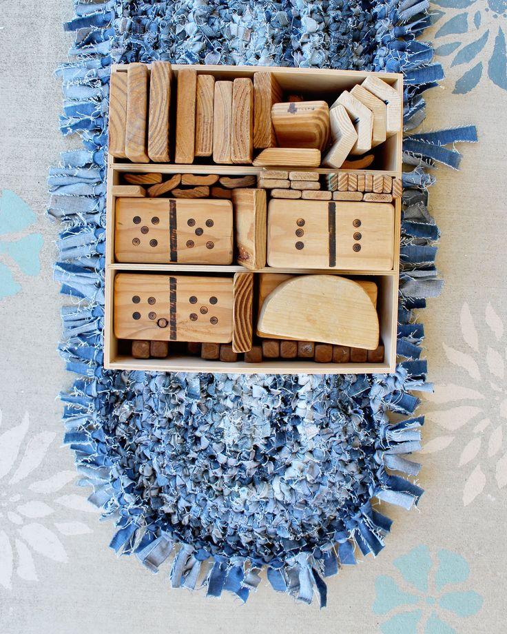 Cool way to up-cycle denim jeans. Crochet rag rug made by local Queensland (Australia) artisan, Heidi.