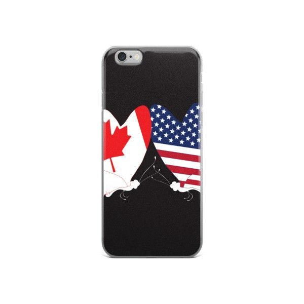 iPhone Case - Canadian & USA Butterfly Flags