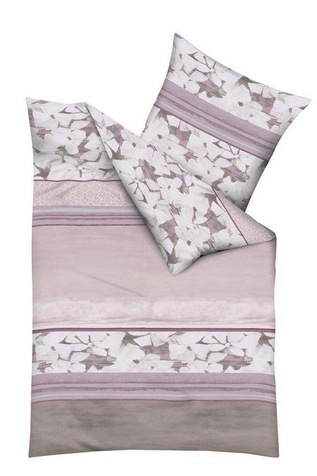 Bettwäsche, Kaeppel, »Jane«, mit Blüten verziert ab 60,09€. In modernem Blumen-Design, Mit pflegeleichten Eigenschaften, Aus 100% Baumwolle gefertigt bei OTTO
