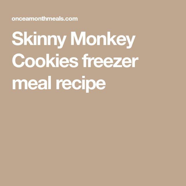 Skinny Monkey Cookies freezer meal recipe