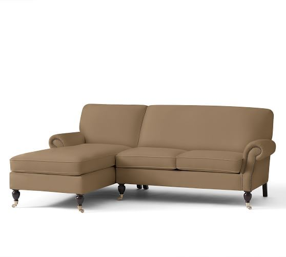 Brooklyn Upholstered Sofa with Chaise Sectional | Pottery Barn