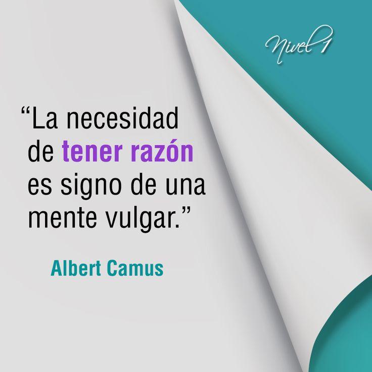 """""""La necesidad de tener razón es signo de una mente vulgar"""". Albert Camus, novelista, ensayista y dramaturgo, nacido en Argelia cuando todavía era una colonia francesa fue premio Nobel de Literatura en 1957 por """"por su importante producción literaria, que con seriedad clarividente ilumina los problemas de la conciencia humana en nuestro tiempo"""", según apuntaba el propio veredicto del tribunal sueco. #PremioNobeldeLiteratura #AlbertCamus"""