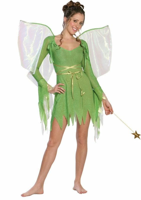 5d92bad788 Tinkerbell Deluxe Teen Costume Description: Flit and flutter around in this  shimmery costume! Frolic around your next Halloween or costume party dressed  as ...
