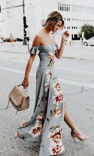 d247426bce3c summer wedding guest dress ideas!  wrapdress  maxidress  summeroutfit